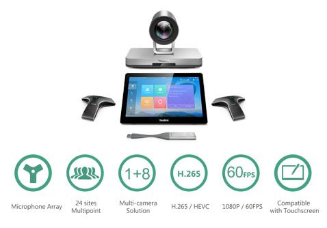 Hệ thống hội nghị truyền hình đa điểm 24 site Yealink VC800