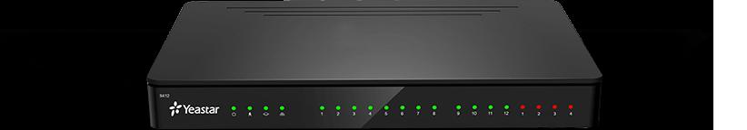 Tổng đài IP / VoIP Yeastar S412 mặt trước